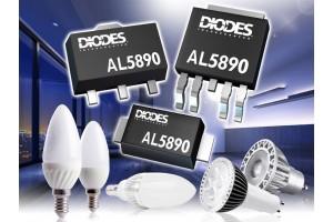 Diodes выпускает компактные 400-вольтовые линейные регуляторы для питания светодиодных цепочек