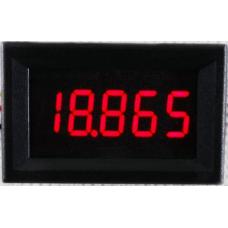Вольтметр цифровой, постоянного тока, повышенной точности, 0.0000-33.000В, цвет красный
