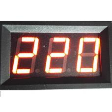 Вольтметр цифровой, переменного тока, 50-500В, цвет красный