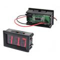 Вольтметр цифровой, постоянного тока, 0-100В, питание 4-30В, красный