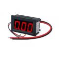 Амперметр цифровой, постоянного тока, 0-10А, питание 4-30В, красный