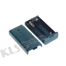 KLS5-805-B, батарейный отсек для 2 батарей АА, с крышкой, провод 15см