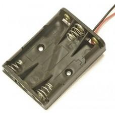 KLS5-819-B, батарейный отсек для трех батарей ААА, провод 15см