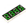 CL-5642BG-30, семисегментный индикатор, 4 разряда, зеленый, ОА, секундные точки