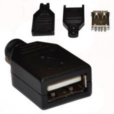 Гнездо USB, на кабель