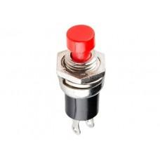Кнопка нажимная без фиксации, 220В 1А, Micro, красная (RWD-301)