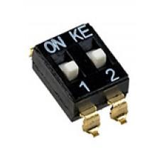 DM-02, (SWD4-2), переключатель SMD, 2 позиции, шаг 2.54мм