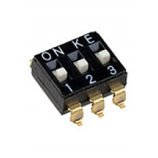 DM-03, (SWD4-3), переключатель SMD, 3 позиции, шаг 2.54мм