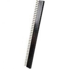 DS1024-1х40R, розетка угловая, однорядная, на плату, шаг 2,54мм