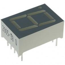 CPD-05212YG1/A, 12,6*17,5мм, семисегментный индикатор, зеленый 1 разрядный, общий анод