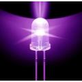 Светодиод ультрафиолетовый, прозрачнаялинза 5мм, 80мВт