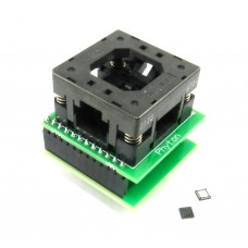 Адаптер для корпусов QFN24, + 20 микроконтроллеров C8051F931-GM в подарок