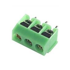 DG126-5.0-03P-14,  клеммник винтовой, 3pin, зеленый