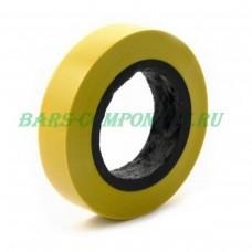 Лента электроизоляционная, полиэстерная, желтая, 5мм*66м