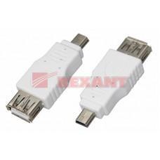 Переходник гнездо USB-A  - штекер Mini USB