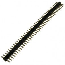 PLL1.27-1x40, вилка прямая, штыревая, однорядная, на плату, шаг 1.27мм