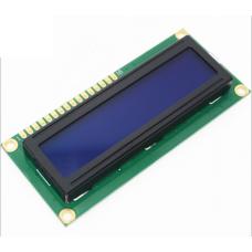QC1602 A, ЖК знакосинтезирующий индикатор (дисплей), двухстрочный, синий