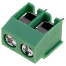 DG126-5.0-02P-14,  клеммник винтовой, 2pin,  зеленый, шаг 5.08мм