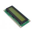 QC1602 A, ЖК знакосинтезирующий индикатор (дисплей), двухстрочный, зеленый