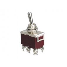 Двухполюсный тумблер (6pin), 15А 250VAC, (KN3(C)-202-A ON-ON)