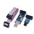 USBASP V2.0, программатор для микроконтроллеров ATMEL, с 6Pin адаптером