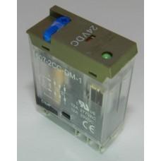 Реле электромагнитное 607-2CC-DM-1 24VDC 12А 2 переключающих