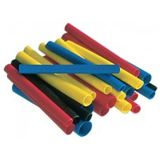 Термоусадочная трубка синяя, негорючая, 5.0/2.5мм, 1м