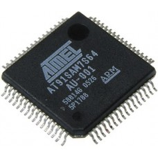 AT91SAM7S64-AU, Микроконтроллер 32-бит AVR, LQFP64