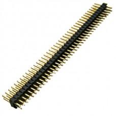 PLLD1.27-80, вилка прямая, штыревая, двухрядная, шаг 1.27мм