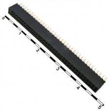 PBL-2X36, розетка прямая, двухрядная, на плату, шаг 1.27мм