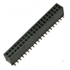 PBD1.27-40SA, розетка прямая, двухрядная, на плату, шаг 1.27мм
