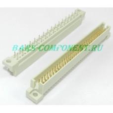 DIN 41612-9001-33641C, вилка вертикального монтажа, 2 рядная, 64 контакта (золото)