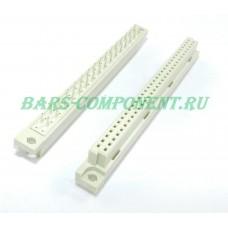 DIN41612-9001-42321C, розетка вертикального монтажа, 2 рядная, 32 контакта (золото)