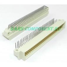 DIN41612-9001-11641C, вилка горизонтального монтажа, 3 рядная, 64 контакта (золото)