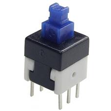 Кнопка миниатюрная на плату, с фиксацией, 8х8х14 мм