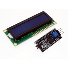 QC1602 A, ЖК знакосинтезирующий индикатор с модулем I2C, (дисплей), двухстрочный, синий