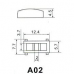 Колпачок на тактовую кнопку, 12.4х5.7х4.5 мм, A02 красный