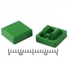 Колпачок на тактовую кнопку, 10х10х5.8 мм, A14 зеленый