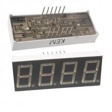 KEM-5461AG, 50*19мм, семисегментный индикатор, зеленый, 4 разряда, общий катод