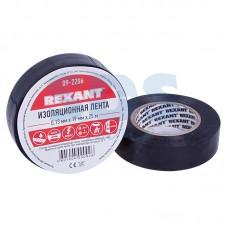Изолента черная REXANT, 0.13 мм Х 15 мм Х 25 м