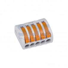 Клемма универсальная, многоразовая 5-проводная  (0,08-2,5мм2)  WAGO