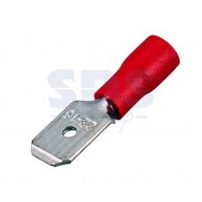 Клемма плоская изолированная (КПИ штекер - 6.3мм) 0.5-1.5мм.кв.  (красная)