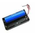 BH2х18650, батарейный отсек для 2 аккумуляторов 18650, 2 провода