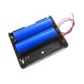 BH3х18650, батарейный отсек для 3 аккумуляторов 18650, 2 провода