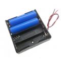 BH4х18650, батарейный отсек для 4 аккумуляторов 18650, 2 провода
