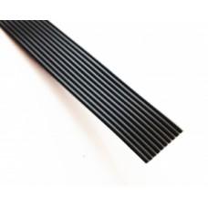 Кабель плоский, шлейф, 10 жильный, 1.27 мм. (черный)