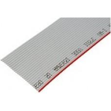 Кабель плоский, шлейф, 20 жильный, 1.27 мм